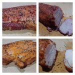 カセットガスコンロで自家製燻製ハム(豚、鶏)